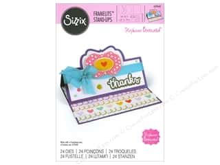 sentiment dies: Sizzix Framelits Die Set 24 pc. Lively Stand-Ups Card