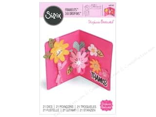 sentiment dies: Sizzix Framelits Die Set 21 pc. Card with Flowers 3-D Drop-ins