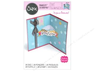 die cuts: Sizzix Framelits Die Set 28 pc. 3-D Drop-ins Card with Banners