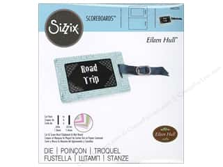 window die: Sizzix Scoreboards Dies Luggage Tags by Eileen Hull