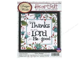 Weekly Specials Singer Thread: Design Works Cross Stitch Kit 10 x 10 in. Give Thanks