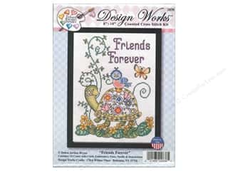 weekly special tasting: Design Works Cross Stitch Kit 8 x 10 in. Friends Forever