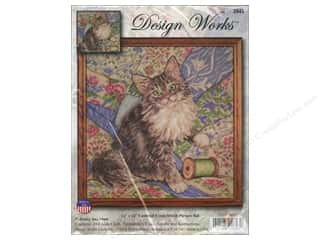 Weekly Specials Bear Thread Designs: Design Works Cross Stitch Kit 12 x 12 in. Cat On Quilt