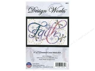 weekly special tasting: Design Works Cross Stitch Kit 5 x 7 in. Faith