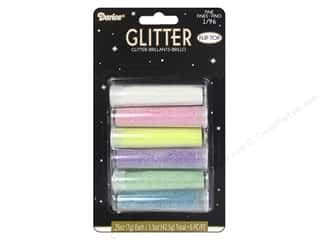 Darice Fine Glitter 1/4 oz. Pastels Set 6 pc.