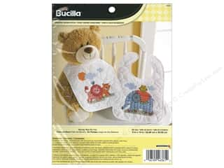 yarn & needlework: Bucilla Stamped Cross Stitch Kit Two By Two Baby Bibs