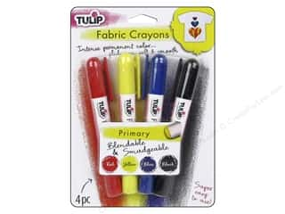 craft & hobbies: Tulip Fabric Crayon 4 pc. Primary