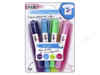 crayons: Tulip Fabric Crayon 4 pc. Bright
