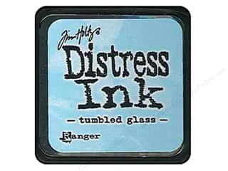 stamps: Tim Holtz Distress Mini Ink Pad by Ranger Tumbled Glass