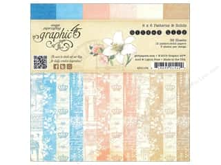 Cardstock  6x6: Graphic 45 6 x 6 in. Gilded Lily Patterns and Solids