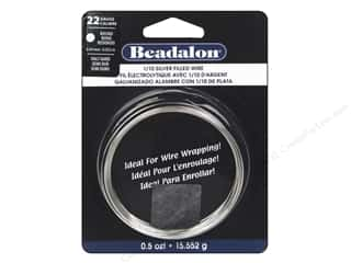 beading & jewelry making supplies: Beadalon 1/10 Silver Filled Wire 22 ga Round Half Hard 0.5 oz.