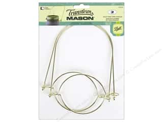 Weekly Specials That Patchwork Place: Loew Cornell Transform Mason Regular Mouth Wire Handle Gold 2 pc.