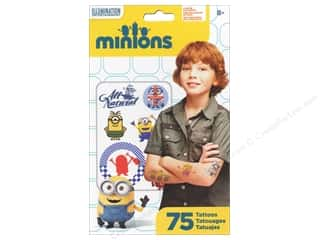 stickers: SandyLion Tattoo Universal Minions Movie 75pc