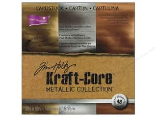 Cardstock: Coredinations Cardstock Pack 6 x 6 in. Kraft Core Tim Holtz Metallic