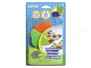 beading & jewelry making supplies: Perler Owl and Hedgehog Pegboard Pack 2 pc.