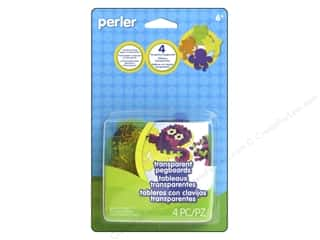 beading & jewelry making supplies: Perler Transparent Pegboards 4 pc.