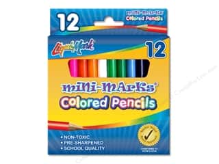 Liquimark Colored Pencil Set 3.5 in.  Mini Marks 12 pc