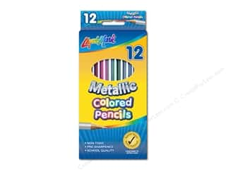 craft & hobbies: Liquimark Colored Pencil Set 7 in.  Metallic 12 pc