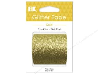 glues, adhesives & tapes: Best Creation Glitter Tape 2 in. x 5 1/2 yd. Gold