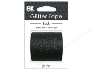 glues, adhesives & tapes: Best Creation Glitter Tape 2 in. x 5 1/2 yd. Black