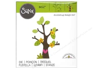die cutting machines: Sizzix Bigz Dies Tree Flower Heart Leaves by Doodlebug