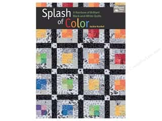Books & Patterns: Splash of Color: A Rainbow of Brilliant Black-and-white Quilts Book by Jackie Kunkel
