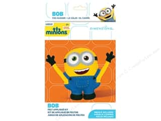 craft & hobbies: Dimensions Applique Kit Felt Minions Bob