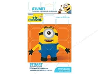 craft & hobbies: Dimensions Applique Kit Felt Minions Stuart