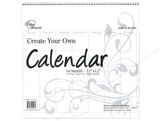 scrapbooking & paper crafts: Paper Accents Calendar Create Your Own 12 x 12 in. 14 Month Blank White