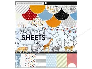 scrapbooking & paper crafts: Me & My Big Ideas Sheets Cardstock Pad 12 x 12 in. Cool Baby Boy
