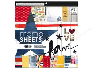 scrapbooking & paper crafts: Me & My Big Ideas Sheets 12 x 12 in. Cardstock Pad Americana