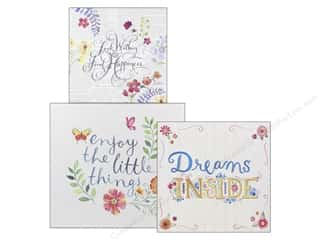 Molly & Rex Organizer Square Flap Box Words In Bloom Set Of 3