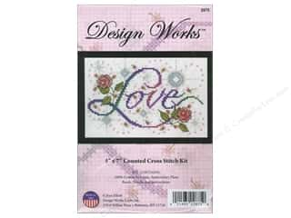 weekly special tasting: Design Works Cross Stitch Kit 5 x 7 in. Love