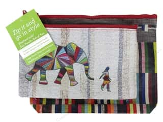 Fabric Bags / Purses: Stash By C&T Tote Elephant and I Eco Pouch Set