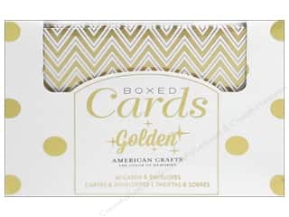 Cards: American Crafts Cards & Envelopes 40 pc. Golden