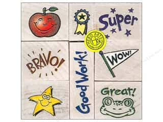 Rubber Stamps: Hero Arts Rubber Stamp Set Bravo For Teachers