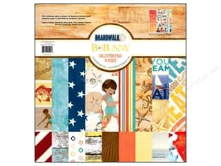 Best of 2012 Bo Bunny Paper & Sticker Collection Pack: Bo Bunny 12 x 12 in. Collection Pack Boardwalk