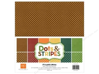 Clearance Echo Park Collection Kit: Echo Park 12 x 12 in. Collection Kit Dots & Stripes Fall