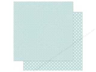 Winter Wonderland Printed Cardstock: Echo Park 12 x 12 in. Paper Dots & Stripes Winter Collection Powder Blue (25 sheets)