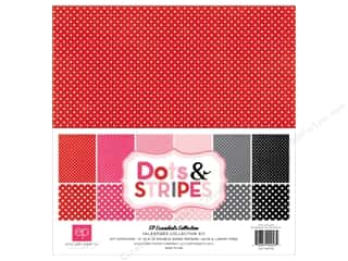 Weekly Specials Echo Park Collection Kit: Echo Park 12 x 12 in. Collection Kit Dots & Stripes Valentine