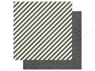 Simple Stories: Simple Stories 12 x 12 in. Paper Claus & Co Charcoal Stripes & Stars (25 sheets)
