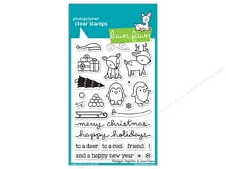 Clearance Plaid Stamps Clear: Lawn Fawn Clear Stamp Toboggan Together