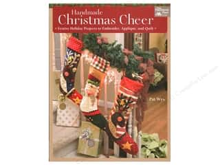 Clearance: Handmade Christmas Cheer: Festive Holiday Projects to Embroider, Applique, and Quilt Book by Pat Wys