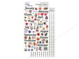 Stickers: Paper Accents Stickers Calendar Months & Numbers Large Color