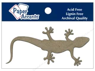 Paper Accents Chipboard Shape Gecko 8 pc. Kraft