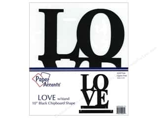 Paper Accents Chipboard Shape 10 in. Love 1 pc. Black