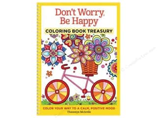 Design Originals Don't Worry Be Happy Coloring Book