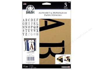 craft & hobbies: Plaid Stencil Folkart Paper Alphabet & Monogram Serif 5""