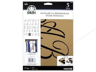 Plaid Alphabet Stencils 5 in. Script