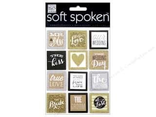 Me & My Big Ideas Soft Spoken Stickers Love Squares Gold